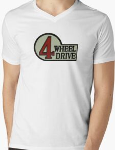 Toyota FJ40 Land Cruiser Four Wheel Drive Emblem Mens V-Neck T-Shirt
