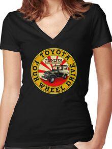Vintage Land Cruiser Women's Fitted V-Neck T-Shirt