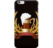 Beer mug cereal ears and banner for your text iPhone Case/Skin