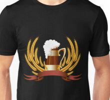 Beer mug cereal ears and banner for your text Unisex T-Shirt