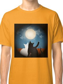 dreaming cats on a roof Classic T-Shirt