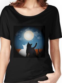dreaming cats on a roof Women's Relaxed Fit T-Shirt