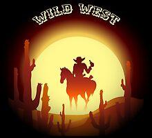 Wild West theme with desert rider by devaleta