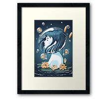 Breathing Underwater Framed Print