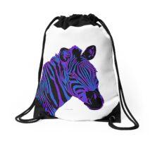 Zebra Head gradient blue purple 4L Drawstring Bag