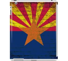 Arizona grunge brick wall flag iPad Case/Skin