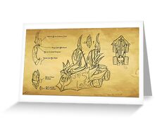 Spellistae Parchment Blueprint Greeting Card