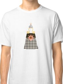 The Katy Bag / Black Licorice Houndstooth Classic T-Shirt