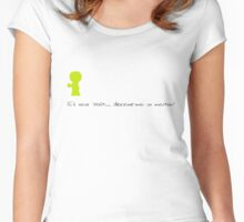 Draw me a sheep! Women's Fitted Scoop T-Shirt