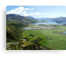 Helicopter High ( 7 ) Wanaka just after take-off. Metal Print