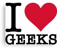 I Love Geeks Canvas Print