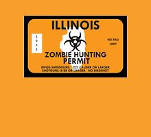 Zombie Hunting Permit - ILLINOIS Unisex T-Shirt