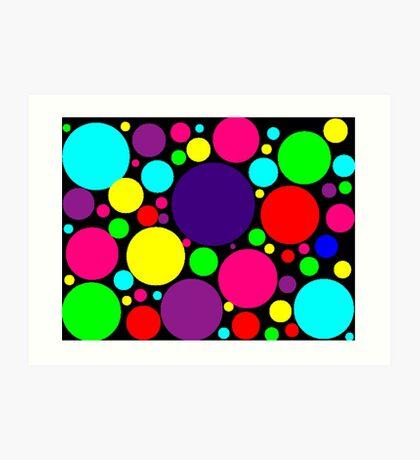 Multi-Colored Bubbles Art Print
