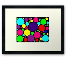 Multi-Colored Bubbles Framed Print