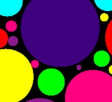 Multi-Colored Bubbles Sticker