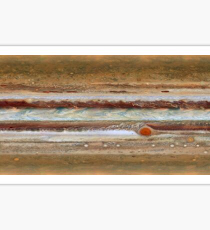 Hubble Space Telescope Jupiter Great Red Spot Sticker