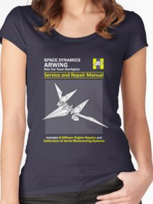 Arwing Service and Repair Manual Women's Fitted Scoop T-Shirt