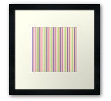 Multi-Colored Stripes Framed Print