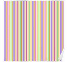 Multi-Colored Stripes Poster
