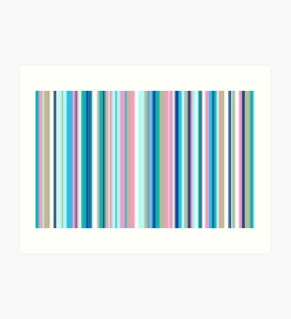 Multi-Colored Stri Blues Art Print
