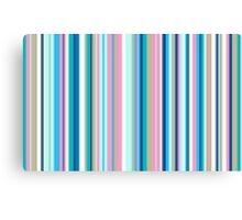 Multi-Colored Stri Blues Canvas Print