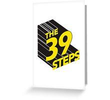 Vintage 39 steps title Greeting Card