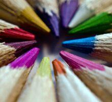 Colored Pencils Wheel of Colors Sticker