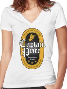Captain Price Premium Stout Women's Fitted V-Neck T-Shirt