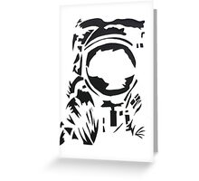 spaceman silhouette Greeting Card