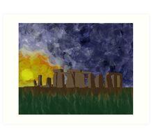 Storm Over Stonehenge Art Print