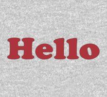 Hello - 1970's Sitcom Inspired T-Shirt Sticker by deanworld