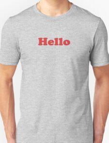 Hello - 1970's Sitcom Inspired T-Shirt Sticker T-Shirt