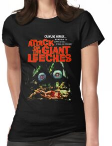 Attack of the giant leeches poster Womens Fitted T-Shirt