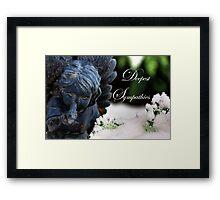 Deepest Sympathies Angel Framed Print