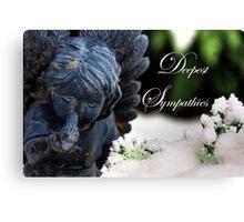 Deepest Sympathies Angel Canvas Print