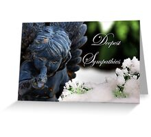 Deepest Sympathies Angel Greeting Card