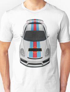 porsche cayman gt4 martini white T-Shirt