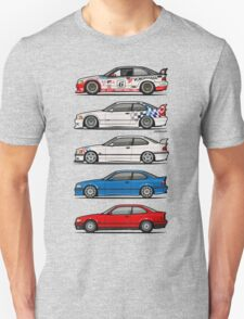 Stack of BMW 3 Series E36 Coupes T-Shirt