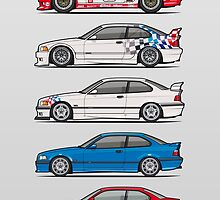Stack of BMW 3 Series E36 Coupes by Tom Mayer