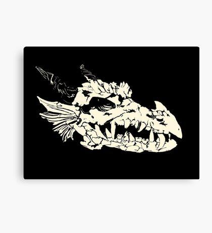 Ancient Dragon Skull Canvas Print
