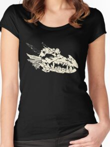 Ancient Dragon Skull Women's Fitted Scoop T-Shirt