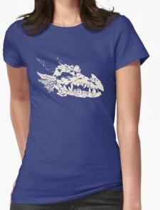 Ancient Dragon Skull Womens Fitted T-Shirt