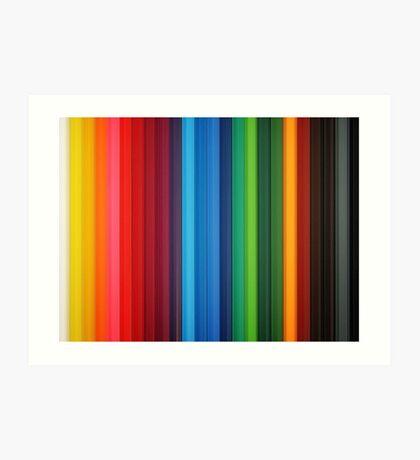 Brilliant Multi Colored Stripes Art Print