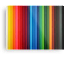 Brilliant Multi Colored Stripes Metal Print