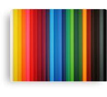 Brilliant Multi Colored Stripes Canvas Print