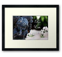 Peace On Earth Angel Framed Print