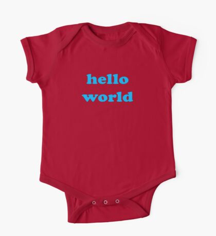 Cute Baby Jumpsuit PJ - Hello World - T-Shirt One Piece - Short Sleeve