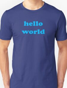 Cute Baby Jumpsuit PJ - Hello World - T-Shirt Unisex T-Shirt