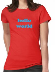 Cute Baby Jumpsuit PJ - Hello World - T-Shirt Womens Fitted T-Shirt