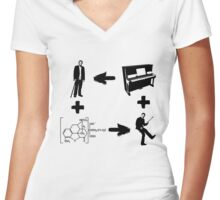 Dr House - A Matter of Vicodin and Music Women's Fitted V-Neck T-Shirt